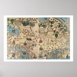 131-0058260/1 atlas catalán: Detalle de Asia, por  Posters