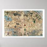 131-0058260/1 atlas catalán: Detalle de Asia, por  Póster