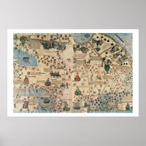 131-0058260/1 Catalan Atlas: Detail of Asia, by Ja Print