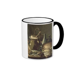 131-0058519/1 aún vida con los pescados, los puerr taza de café