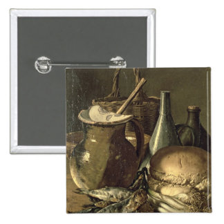 131-0058519/1 Still Life with Fish, Leeks and Brea Pinback Button
