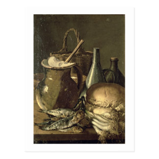 131-0058519/1 Still Life with Fish, Leeks and Brea Postcard