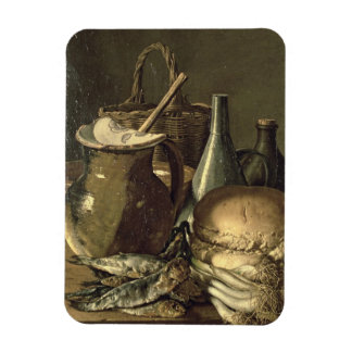 131-0058519/1 Still Life with Fish, Leeks and Brea Rectangular Photo Magnet