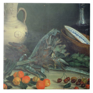 131-0059642 Still Life with Fruit and Vegetables Tile