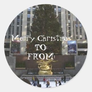 131_3198 (1), Merry X-MasTO:FROM:, Merry Christ... Classic Round Sticker