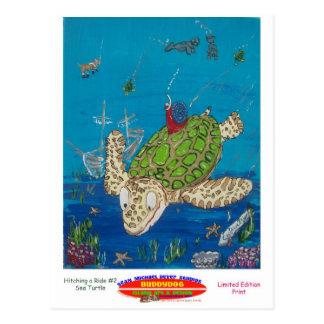 #131 8x10 que engancha un paseo en una tortuga de postales