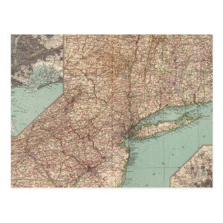 13233 Mass, Conn, RI, NJ, Del, Md Postcard