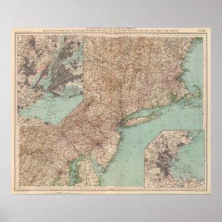 13233 Mass, Conn, RI, NJ, Del, Md Poster