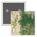 132 Improved land 1900 2 Inch Square Button