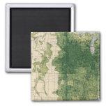 132 Improved land 1900 2 Inch Square Magnet