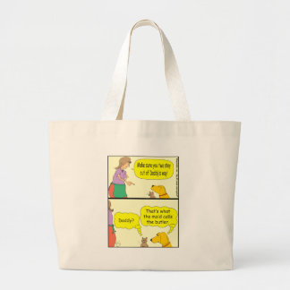 132 maid calls the butler cartoon tote bag