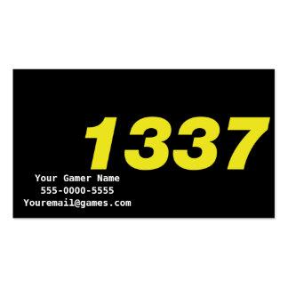 1337 Elite Video Game Gamer Business Cards