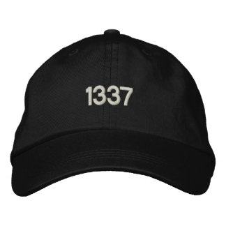 1337 EMBROIDERED BASEBALL CAP
