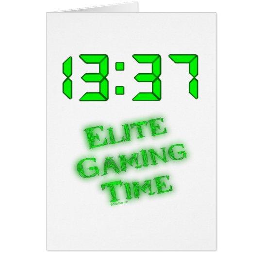 1337 Gaming Time Card