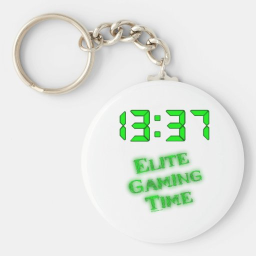 1337 Gaming Time Keychain