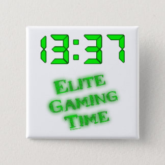 1337 Gaming Time Pinback Button