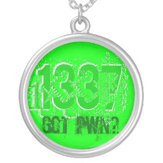 1337 Got Pwn? Round Pendant Necklace
