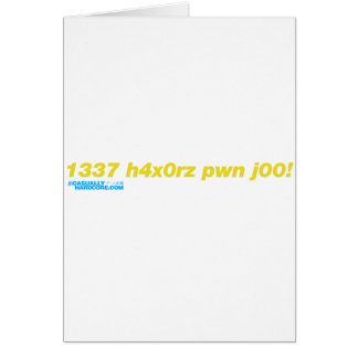 1337 h4x0rz pwn j00 card