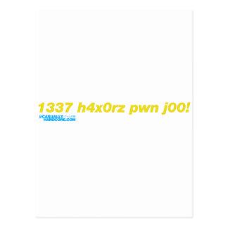 1337 h4x0rz pwn j00 postcard