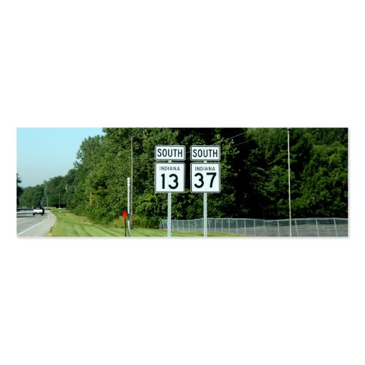 1337 INDIANA HIGHWAY SIGNS BUSINESS CARD