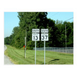 1337 INDIANA HIGHWAY SIGNS POSTCARDS