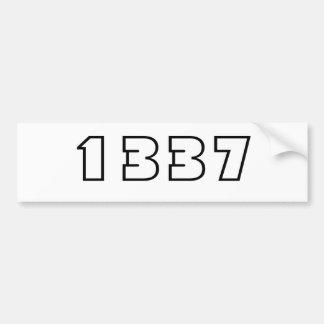 1337 PEGATINA PARA AUTO