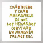 133:1 de Salmos Posters
