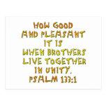 133:1 del salmo tarjetas postales