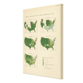 133 Increase value of farms 1850-1900 Canvas Print
