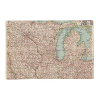 13435 Mich, Wis, Minn, Ia, Mo, Ill, Ind, Ky Laminated Placemat