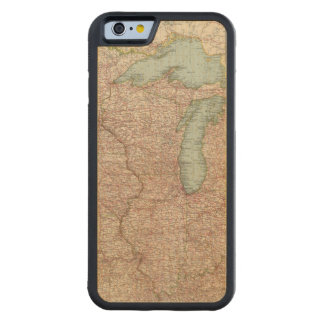 13435 Mich, Wis, Minn, Ia, Mo, Ill, Ind, Ky Carved® Maple iPhone 6 Bumper