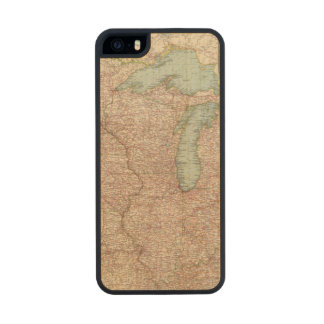 13435 Mich, Wis, Minn, Ia, Mo, Ill, Ind, Ky Carved® Maple iPhone 5 Case