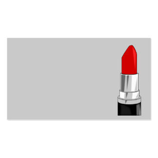 13479 RED LIPSTICK MAKEUP BEAUTY FASHION STYLE SAL BUSINESS CARD