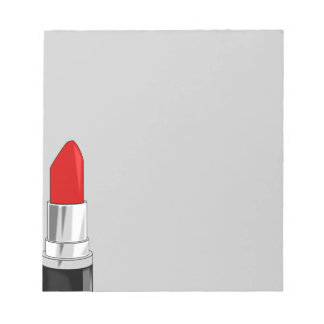 13479 RED LIPSTICK MAKEUP BEAUTY FASHION STYLE SAL NOTE PAD
