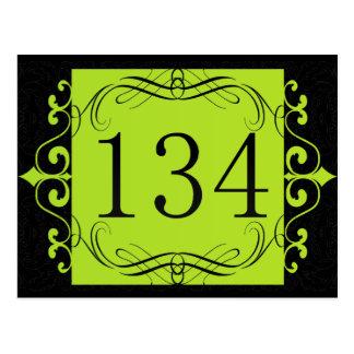 134 Area Code Postcard