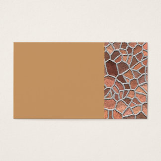 135 BROWNS TANS COBBLESTONE PATTERN BACKGROUNDS TE BUSINESS CARD