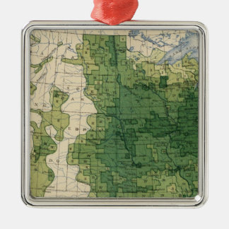 135 Value farm products 1900 Square Metal Christmas Ornament