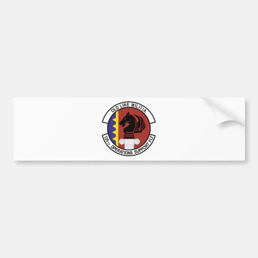 135o Vuelo de la ayuda de Ops Etiqueta De Parachoque