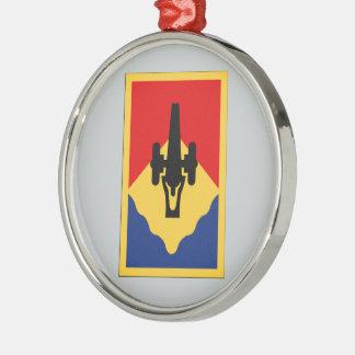 135th Field Artillery Brigade Round Metal Christmas Ornament