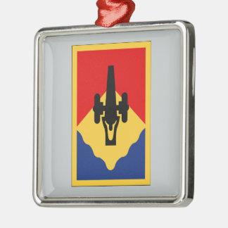 135th Field Artillery Brigade Square Metal Christmas Ornament