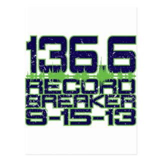 136.6 Record Breaker Postcard