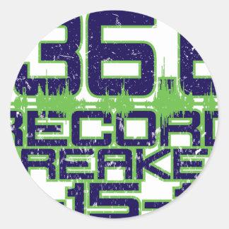 136 6 Record Breaker Round Sticker