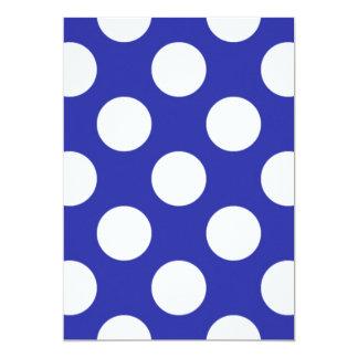 136 ROYAL BLUE SAILOR BRIGHT WHITE POLKA DOTS POLK CARD