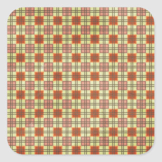 1375 CHECKERED SQUARES PATTERN BACKGROUNDS WALLPAP SQUARE STICKER