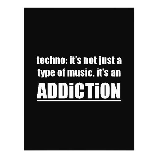 13770 techno type music addiction motto preference full color flyer