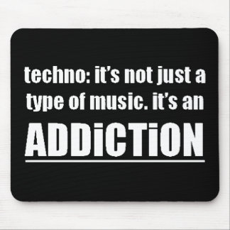 13770 techno type music addiction motto preference mouse pad