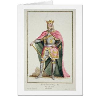 1379-1416) reyes de Fernando I (de Aragón de 'Rece Tarjeta De Felicitación