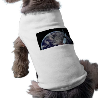 1379 EARTH GLOBE PLANET OUTER SPACE SATELLITE REAL TEE