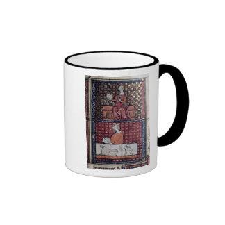 137-0011409/1 asentó a la mujer con una paloma y u taza de café