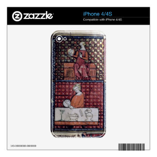 137-0011409/1 Seated woman with a dove and a man c iPhone 4S Decals